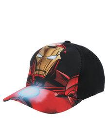 Character Brands Iron Man Peak Cap Black