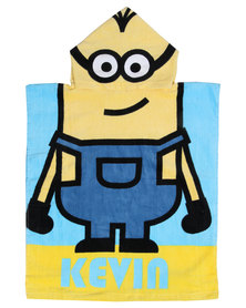 Character Brands Minions Hooded Towel Yellow