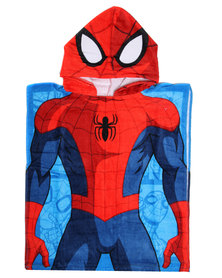 Character Brands Spider Man Hooded Towel Blue