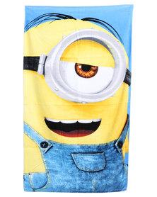 Character Brands Minions Beach Towel Yellow