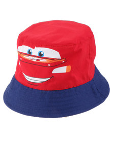 Character Brands Cars Bucket Hat Red