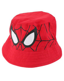 Character Brands Spider Man Bucket Hat Red