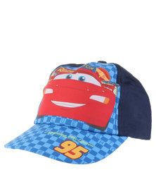 Character Brands Cars Peak Cap Blue