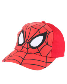 Character Brands Spider Man Peak Cap Red