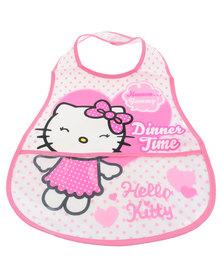 Character Brands Hello Kitty Catcher Bibs White/Pink