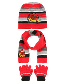 Character Brands Spider Man 3 Piece Set Red