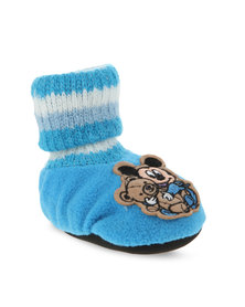Character Brands Baby Mickey Mouse Booty Socks Blue