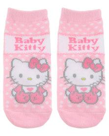 Character Brands Baby Hello Kitty Slipper Socks Pink