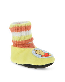 Character Brands Winnie the Pooh Booty Socks Yellow