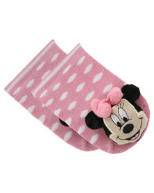 Character Brands Minnie Mouse Rattle Socks Pink