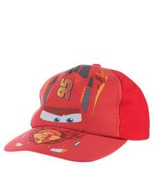 Character Brands Cars Peak Cap Red