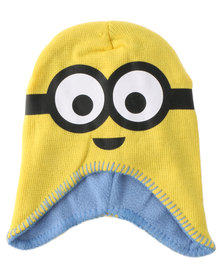 Character Brands Minions Trapper Beanie Yellow