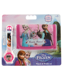 Character Brands Frozen Wallet and Watch Set Multi-coloured