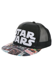 Character Brands Star Wars Flat-Bill Cap Black
