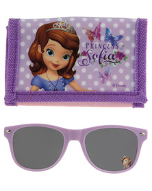 Character Brands Sofia the First Wallet and Sunglasses Set Purple