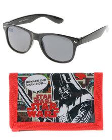Character Brands Star Wars Sunnies & Wallet Set Black