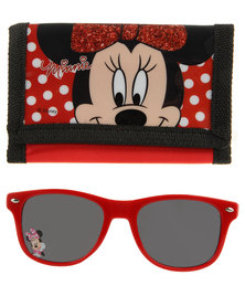 Minnie Mouse Wallet and Sunglasses Set Pink