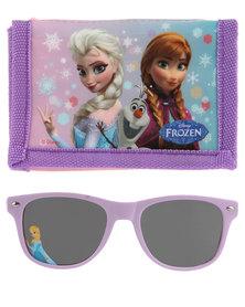 Character Brands Frozen Wallet and sunglasses Set Blue/Purple