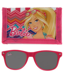 Character Brands Barbie Wallet and Sunglasses Set Pink