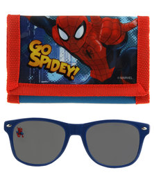 Character Brands Spider Man Wallet and Sunglasses Set Red