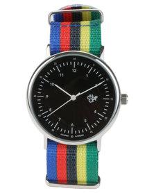 Cheapo Harold Stripe Nylon Strap Watch Multi