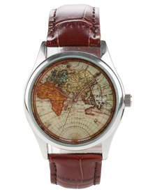 Cheapo Vintage World Leather Strap Watch Brown