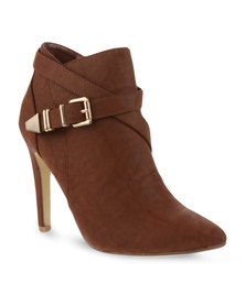 Cherry Howdy Ankle Boots Brown