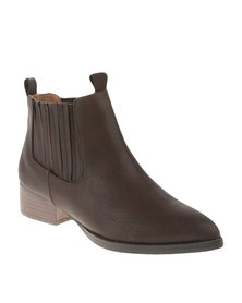 Cherry Western Ankle Boots Brown