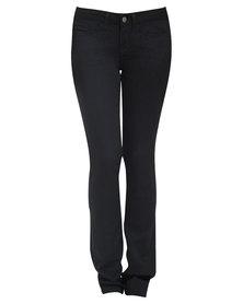 Chic Shapewear Yummie Tummie Skinny Jeans Black