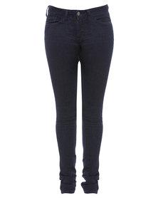 Chic Shapewear Yummie Tummie Skinny Jeans Blue