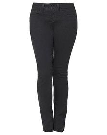 Chic Shapewear Yummie Tummie Straight Leg Jeans Black