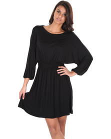 Chica-Loca Scoop Neck Dress Black