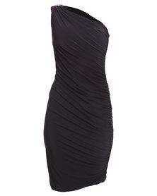 City Goddess London Grecian Goddess Dress Black