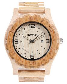 Civvio Maple And Bamboo Watch