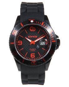 Civvio Splash II Watch Red