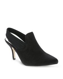 CM Paris Pointed Low Heel Black
