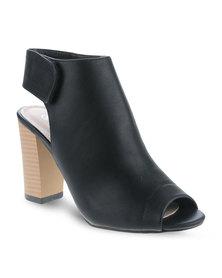 CM Paris Peep-Toe Block Heel