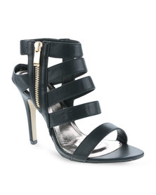 CM Paris Multi-Strap Heels Black