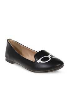 CM PARIS Specs Slipper Pumps Black