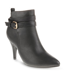 CM Paris Stiletto Ankle Boots Black