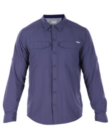 Columbia Silver Ridge Long Sleeve Shirt Navy