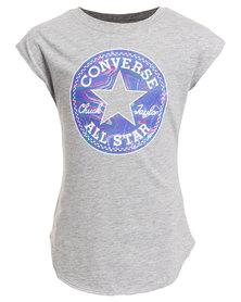 Converse Filled Chucks Drop Shoulder Tee Grey