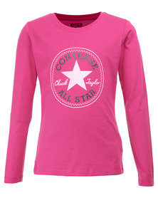 Converse L/S Chuck Patch Tee Pink