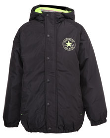 Converse Coaches Jacket Black