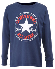 Converse L/S Chuck Patch Tee Navy and Red