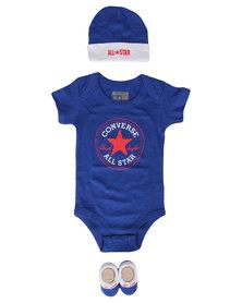 Converse Classic CTP 3 Piece Infant Set Blue