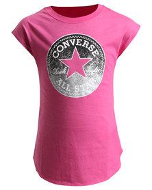 Converse Filled Chucks Drop Shoulder Tee Pink