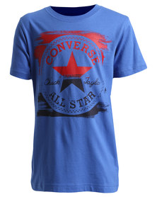 Converse Painted Chuck Tee Blue