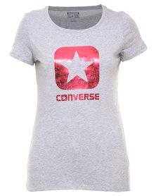 Converse Metallic Box Star Crew Grey