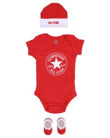 Converse Newborn 3 Pack Set Red